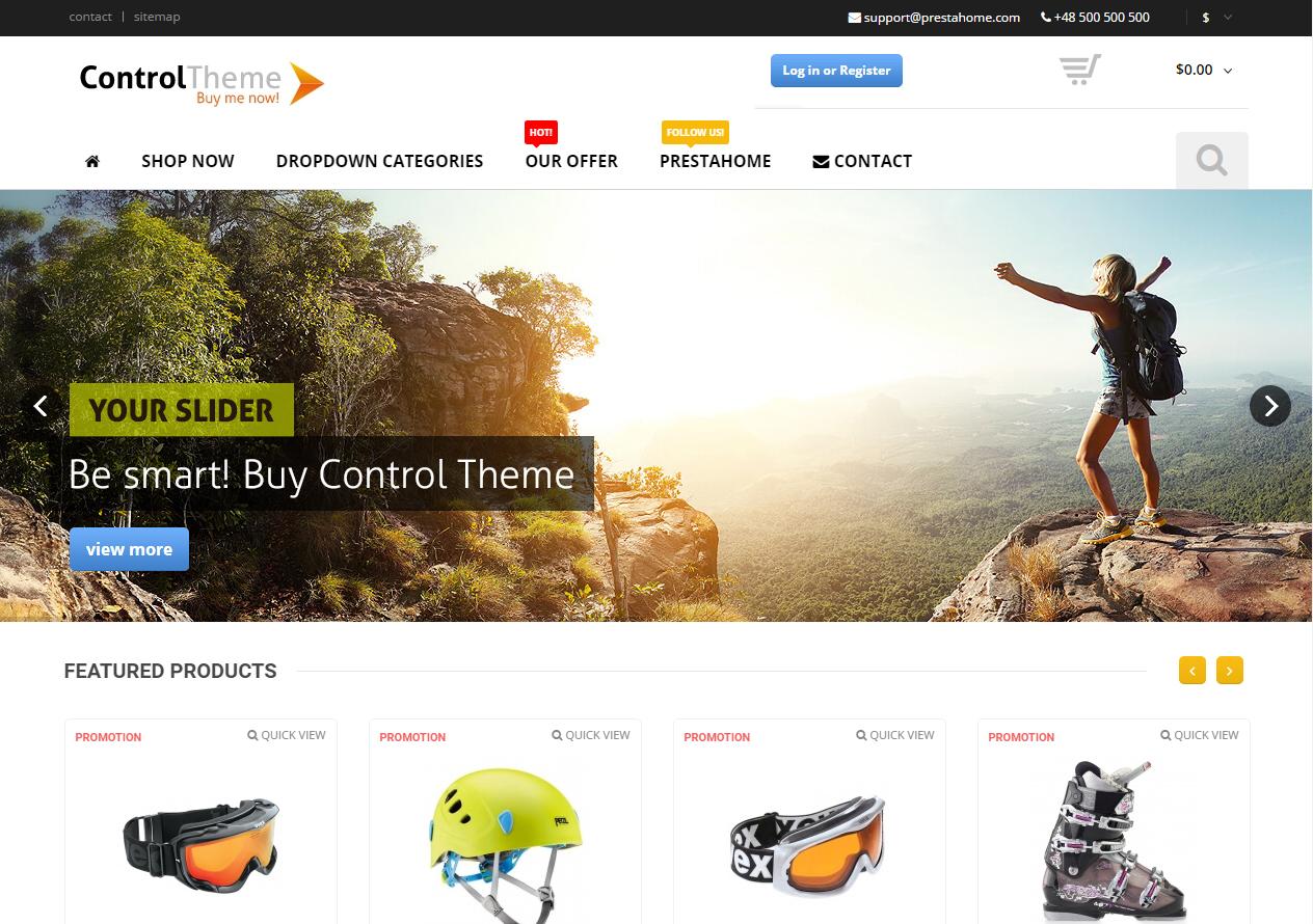 6102ac868 Tema loja virtual prestashop para artigos esportivos - Rei dos Templates