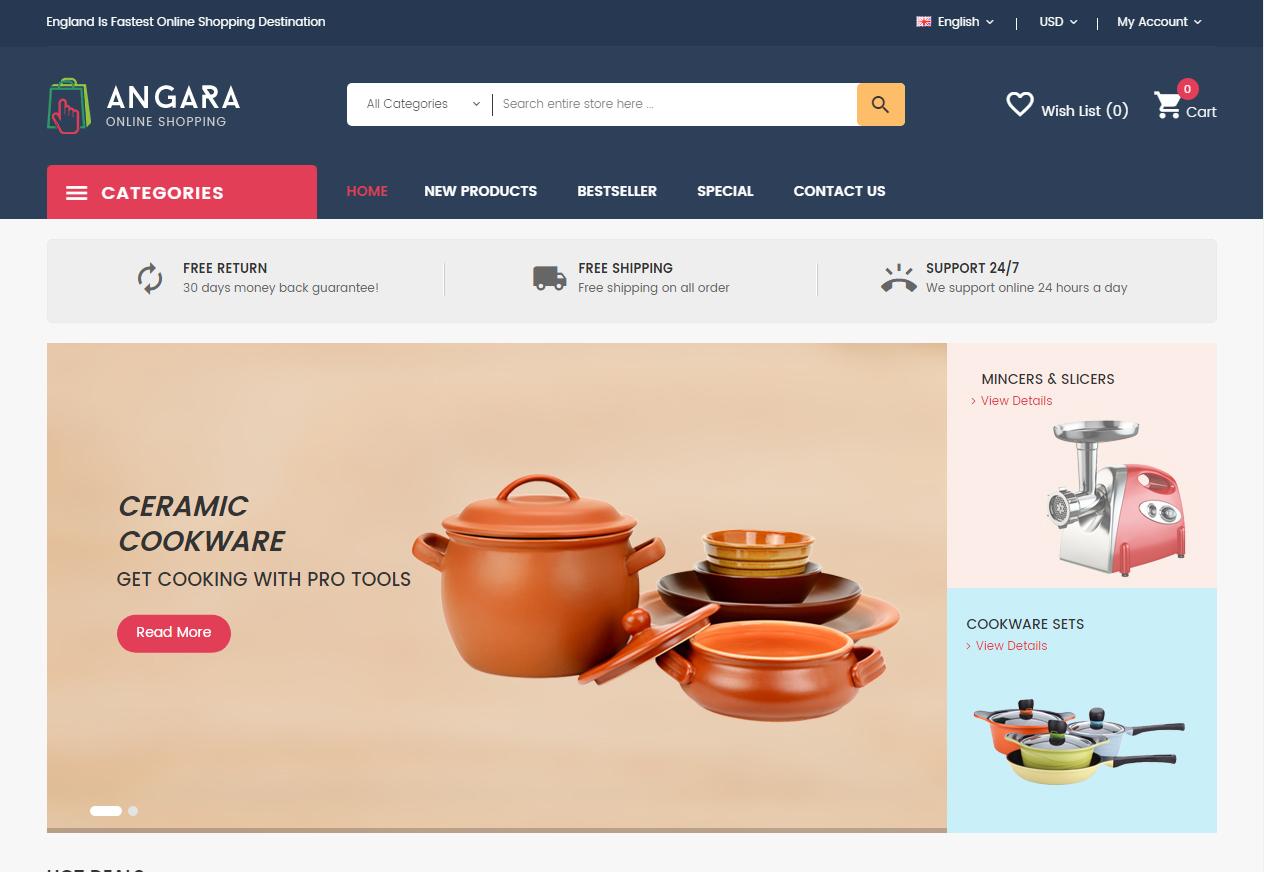 4a13b45af0efa Tema loja virtual opencart para site de eletrodomésticos - Rei dos ...