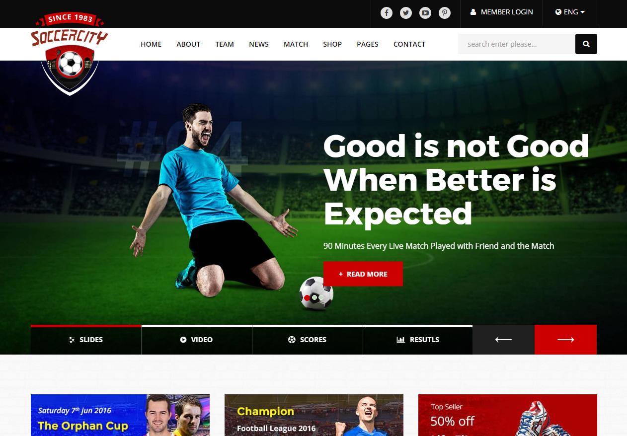 Tema site html para site de futebol 46c033248f603