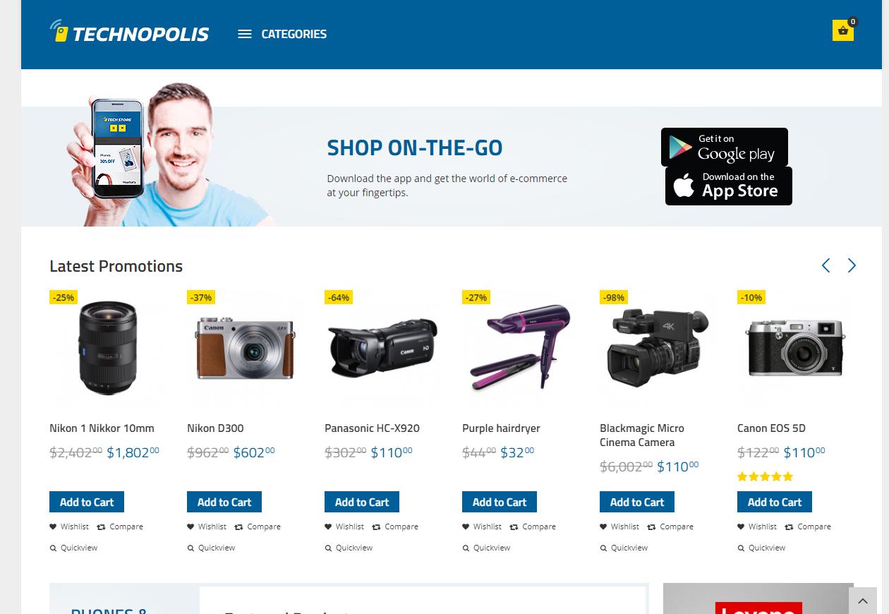 27b064e917b0e Tema loja virtual opencart para loja de eletrônicos - Rei dos Templates