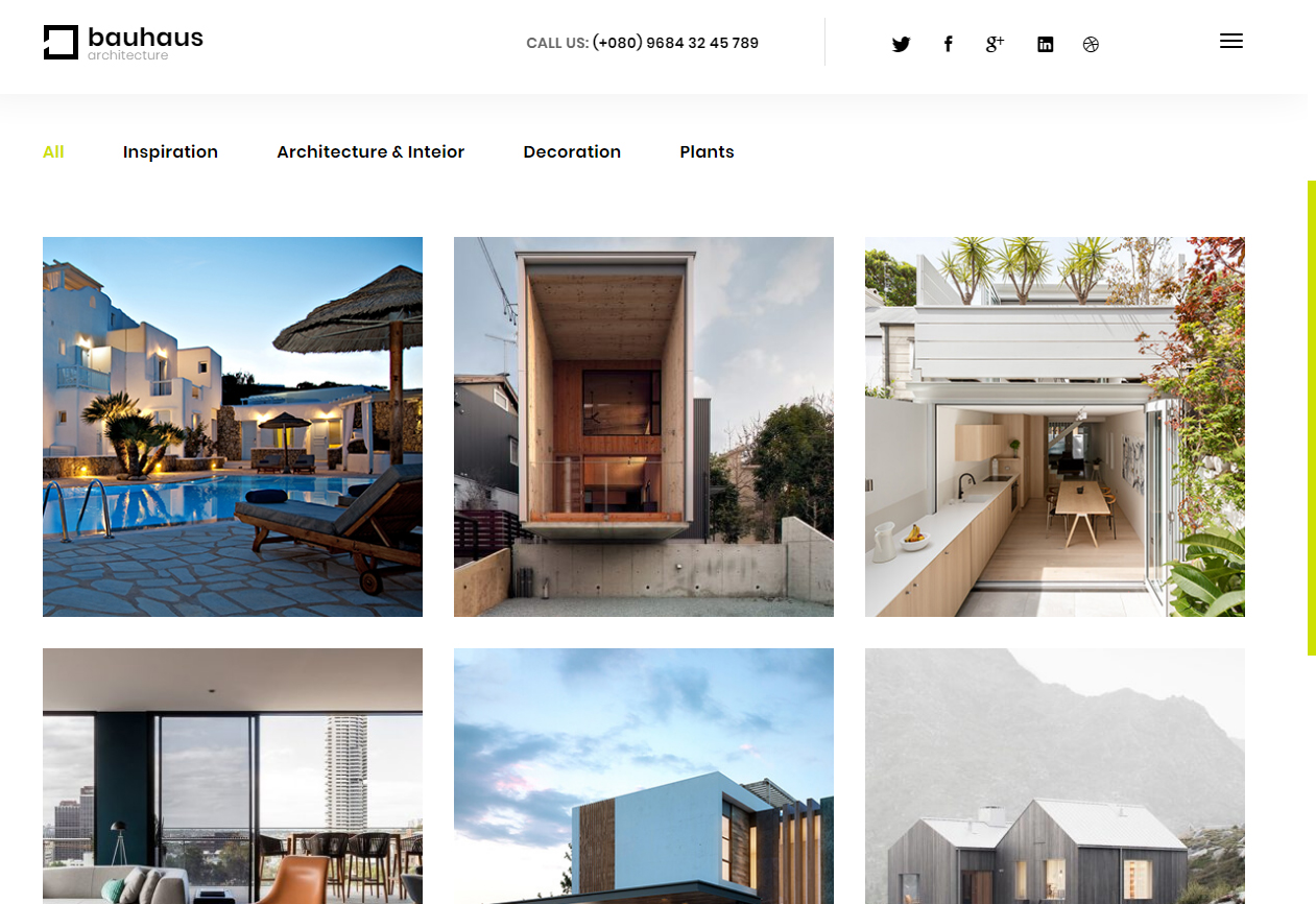 Tema Site Wordpress Para Site De Arquitetura E Design Interior