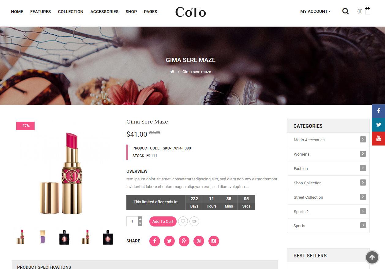 f50962277fb60 Tema loja virtual opencart para lojas de cosméticos - Rei dos Templates